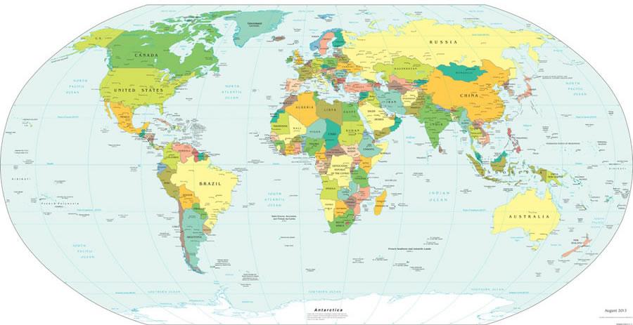 carte du monde gratuite - Image