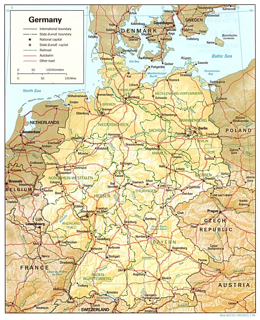 Carte Allemagne Imprimer.Carte Allemagne Carte De Allemagne
