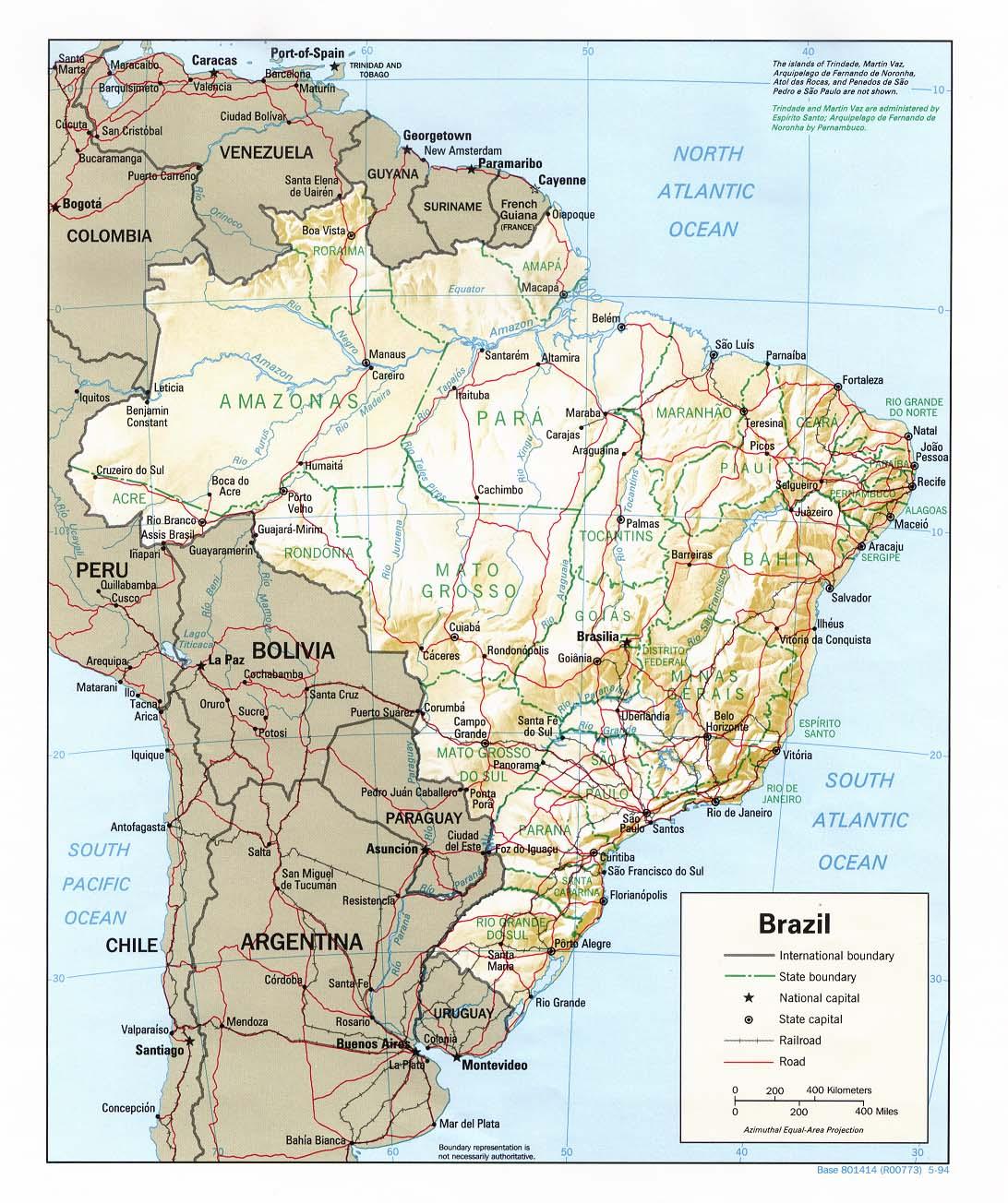 Agrandir carte brésil