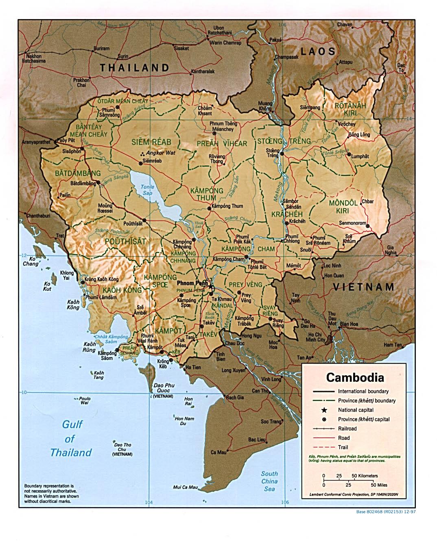 Souvent Carte Cambodge, Carte de Cambodge MC81