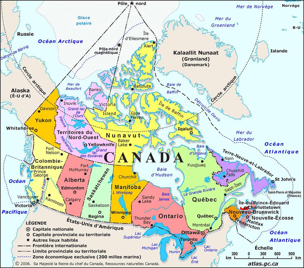 Carte Canada Uni.Carte Canada Carte De Canada