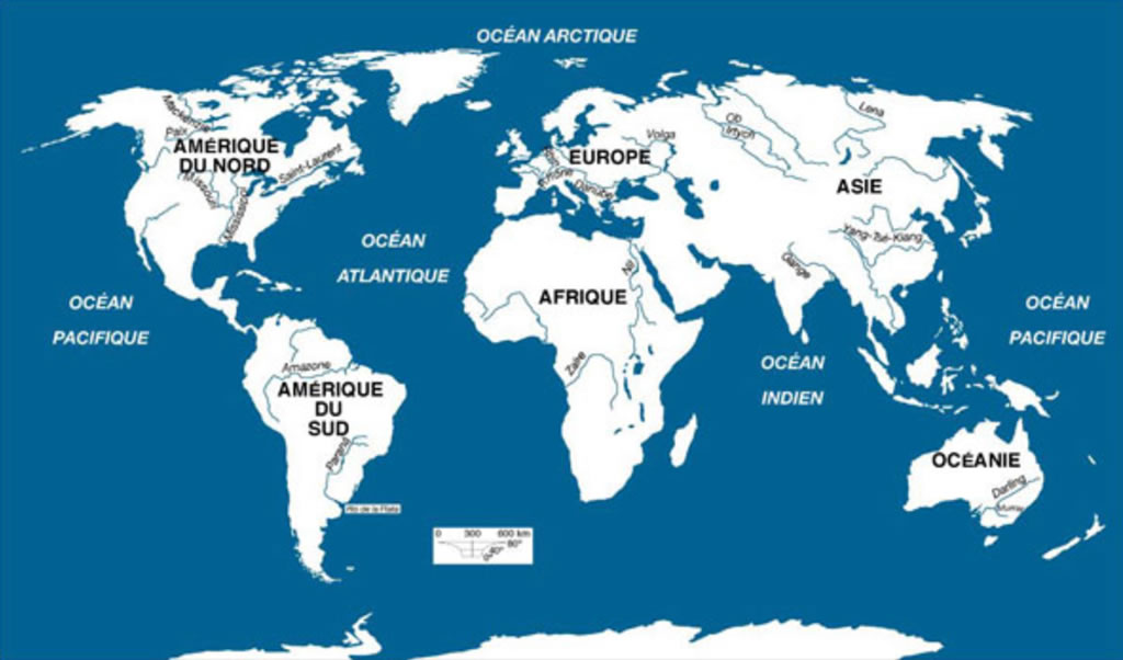 Carte Des Fleuves Du Monde Carte Du Monde