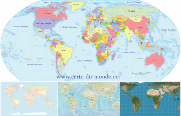 carte du monde les cartes g ographique des pays du monde. Black Bedroom Furniture Sets. Home Design Ideas