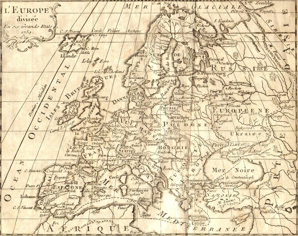 carte europe historique