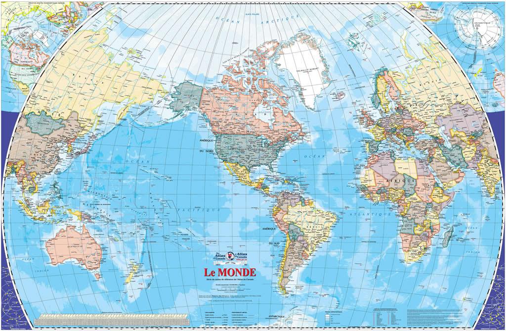 Carte du monde atlas carte du monde - Carte du monde a imprimer gratuite ...