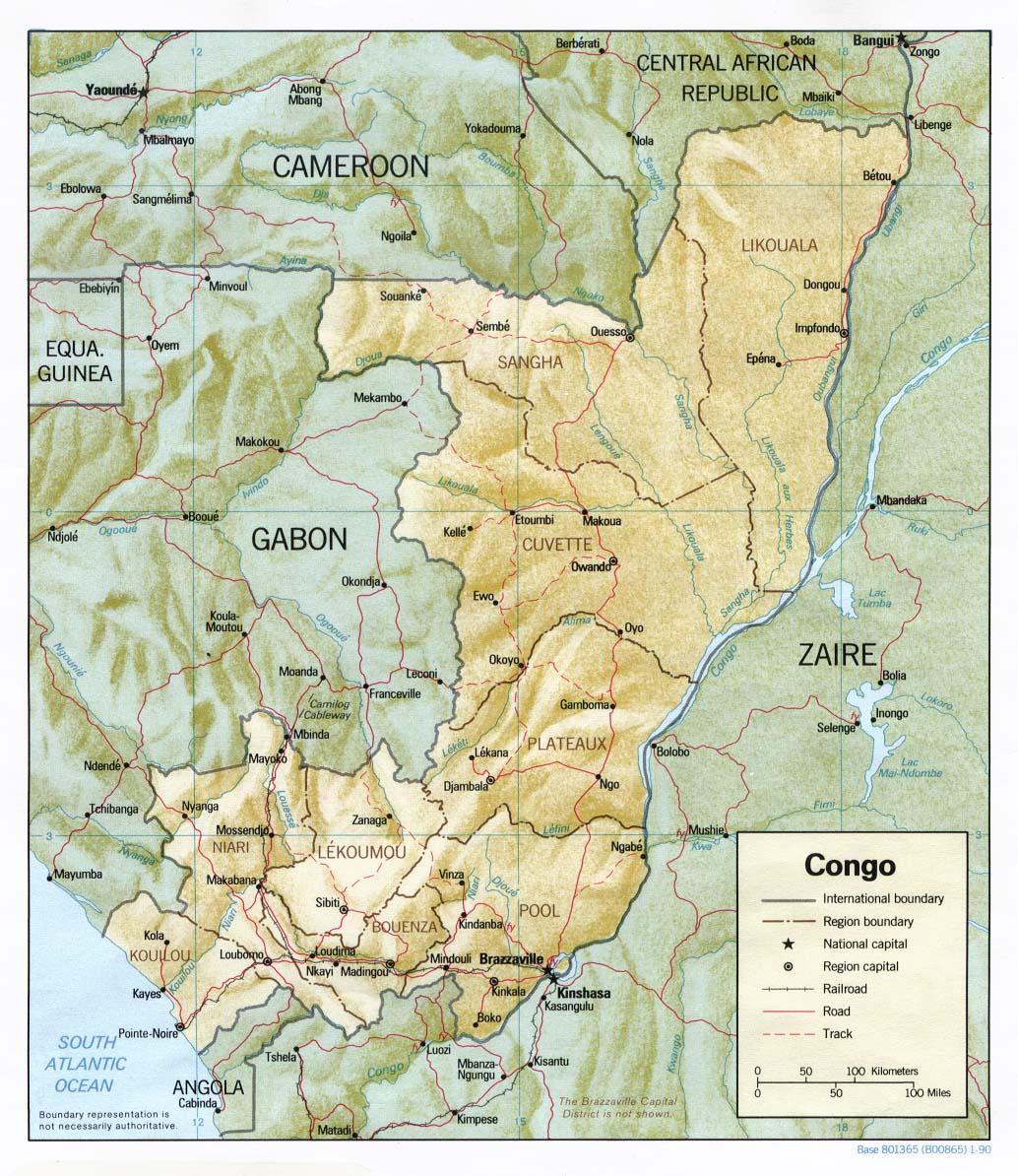 Carte Congo Brazzaville, Carte de Congo Brazzaville
