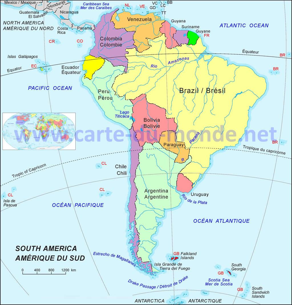 Carte Amerique Du Sud Colorier.Carte Amerique Carte Du Monde
