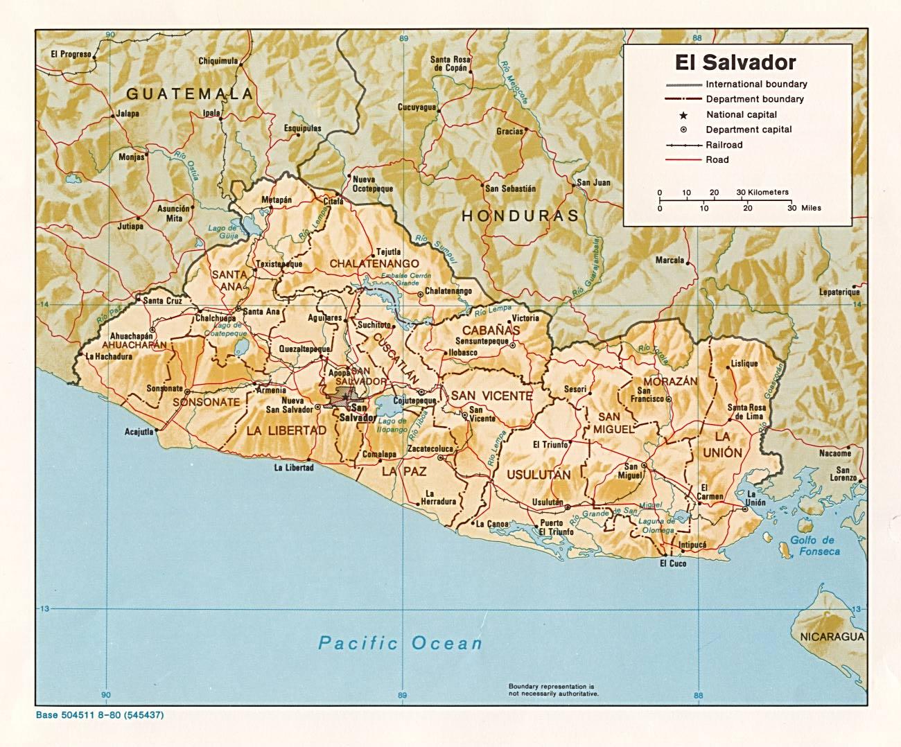 Carte El Salvador  Car...