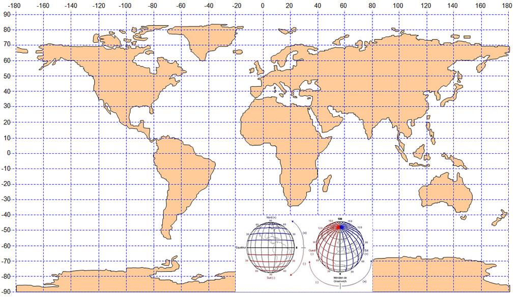 Carte latitude longitude carte monde et map géographie de latitude ...