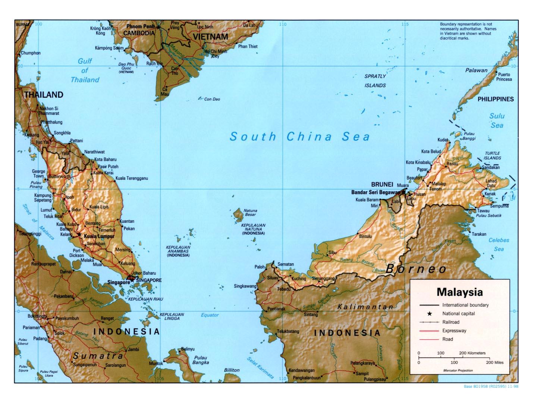 Carte Malaisie Monde.Carte Malaisie Carte De Malaisie