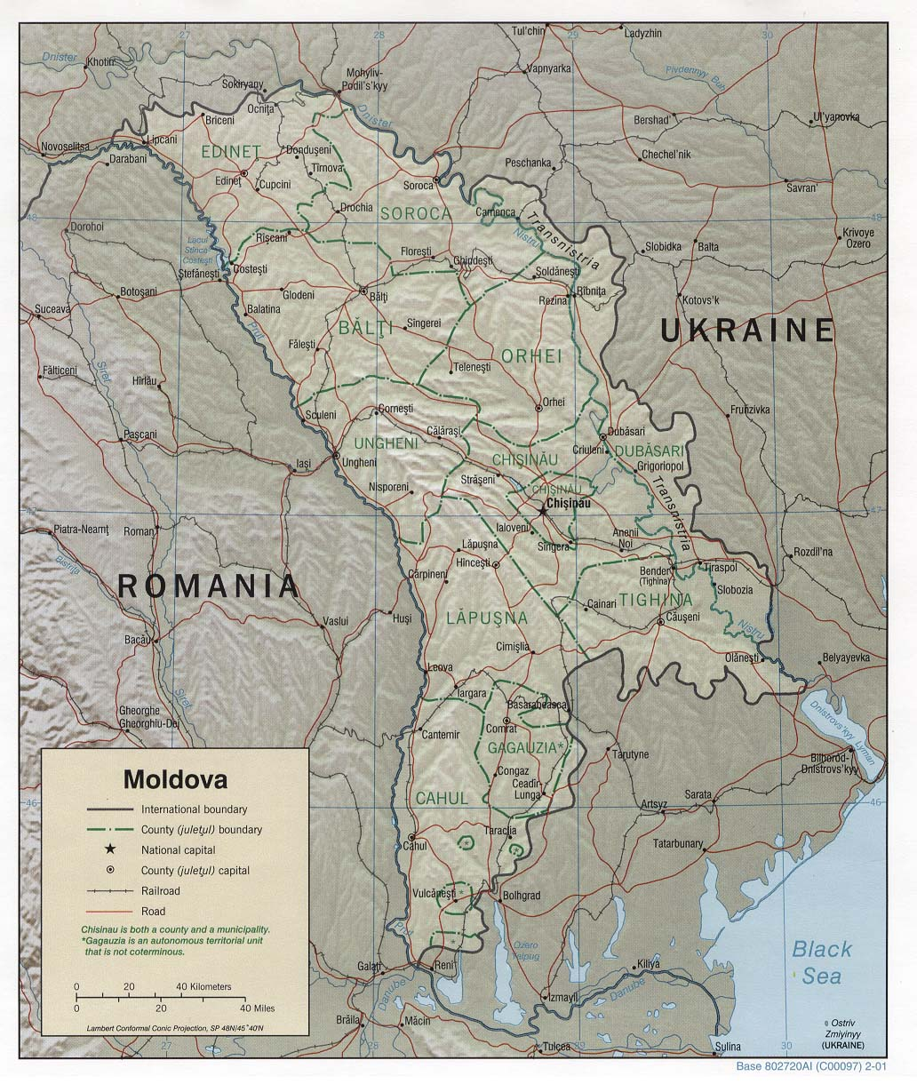 Carte Moldavie