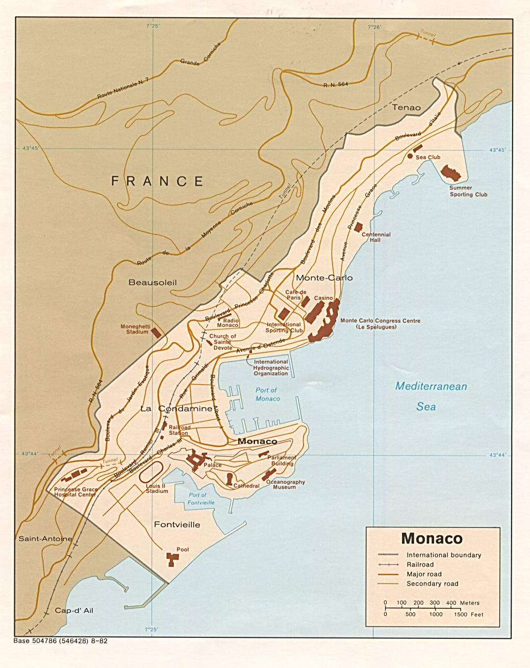 Monaco Monaco  City new picture : Carte Monaco, Carte de Monaco