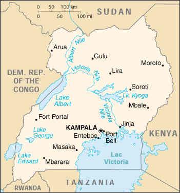 Carte Afrique Ouganda.Carte Ouganda Carte De Ouganda