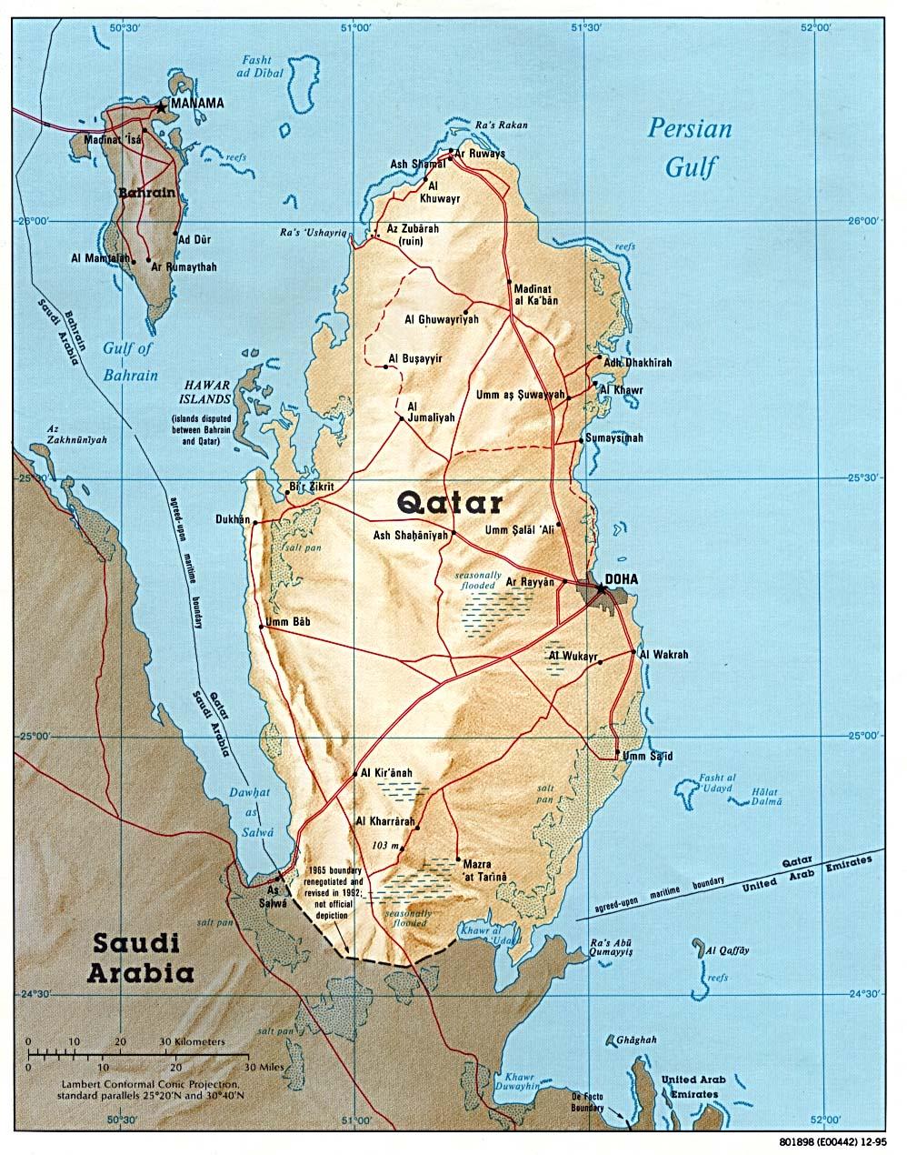 Carte Du Monde Qatar.Carte Qatar Carte De Qatar
