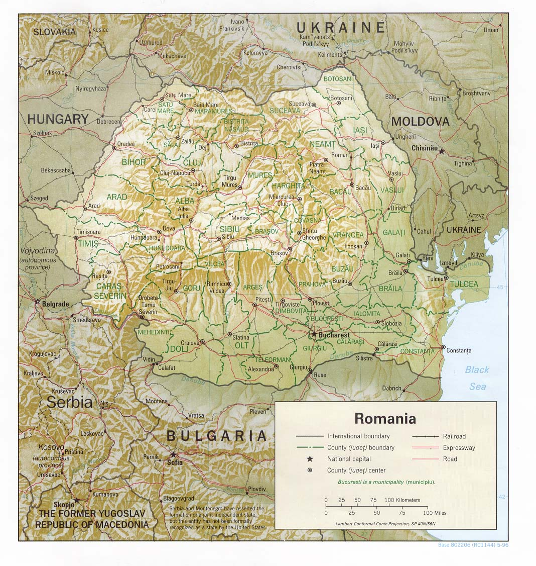 Carte Roumanie, Carte de Roumanie