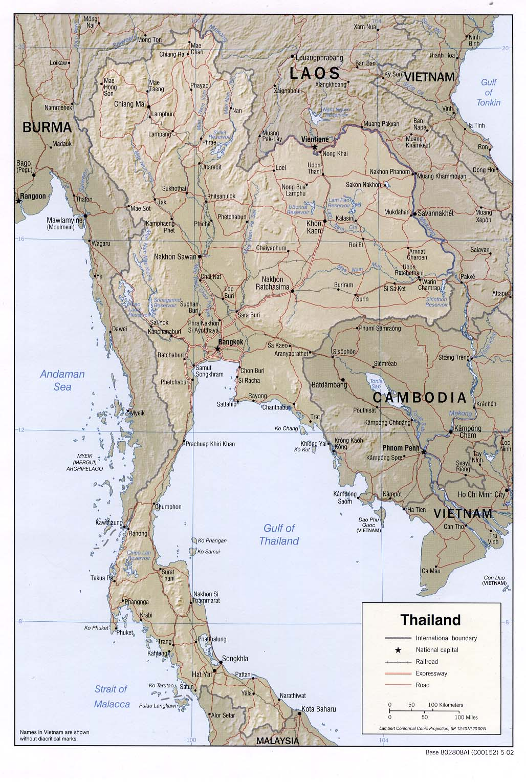 Souvent Carte Thaïlande, Carte de Thaïlande MC81