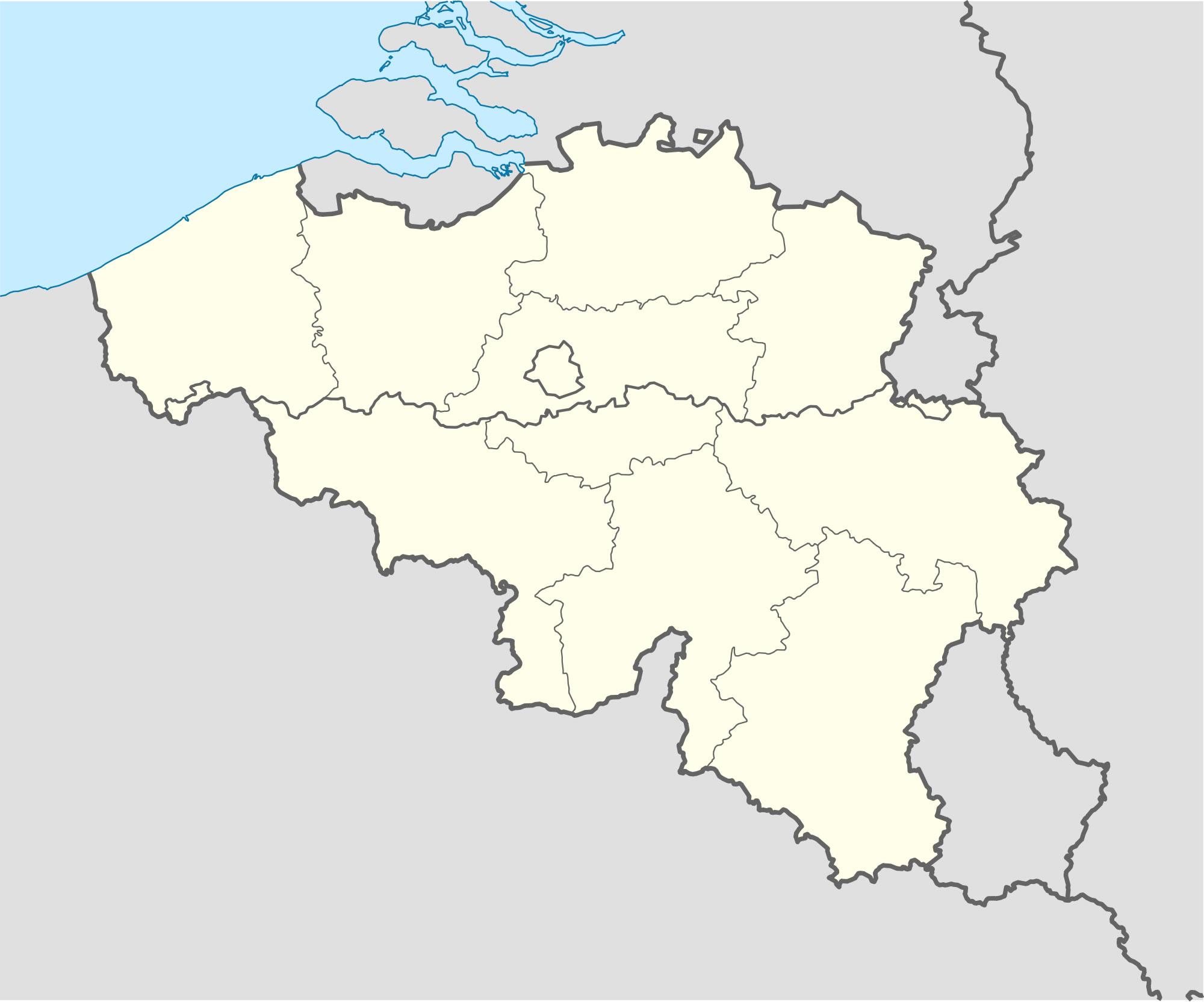Carte Belgique Noir Et Blanc.Carte Belgique Vierge Regions Carte Vierge Des Regions De