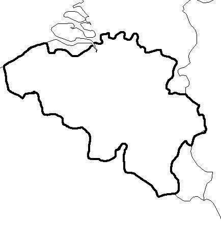 Carte Belgique Noir Et Blanc.Carte Belgique Vierge Carte Vierge De La Belgique