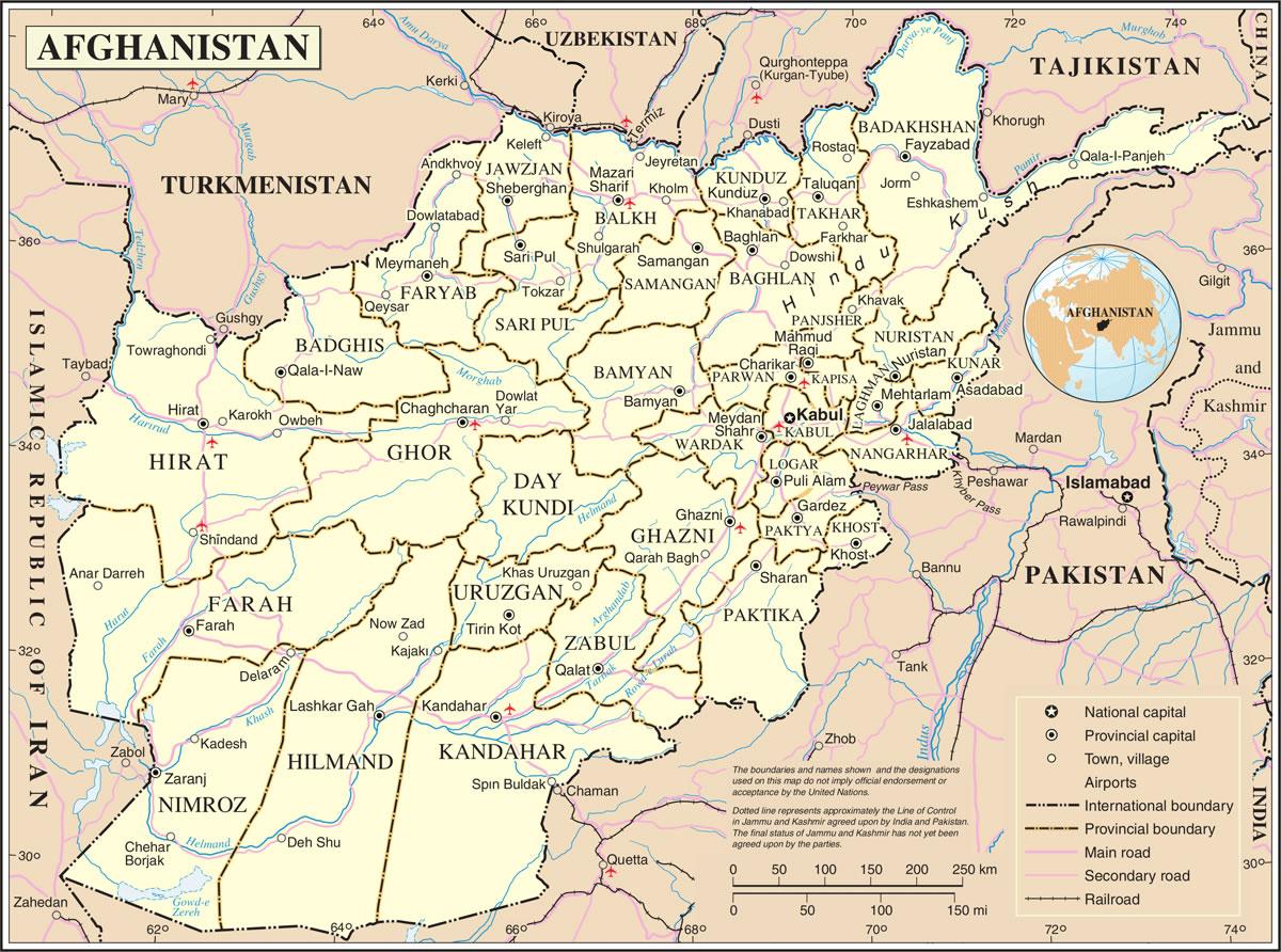 Carte Afghanistan Carte Du Pays Afghanistan