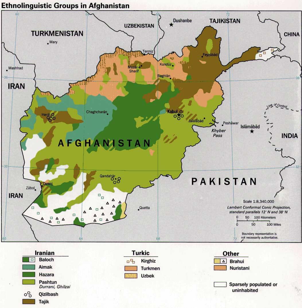 Carte Des Langues Afghanistan Carte Des Langues De Afghanistan