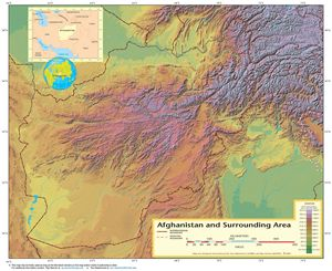 Carte topographique Afghanistan
