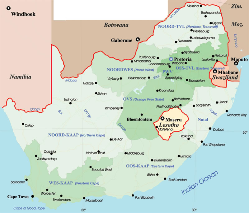 bloemfontein-carte-geographique