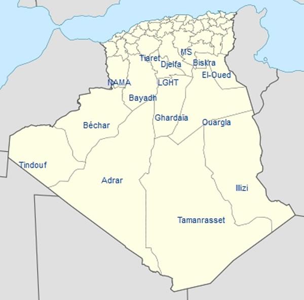 Carte Geographique De Lalgerie.Carte Algerie Carte De Algerie