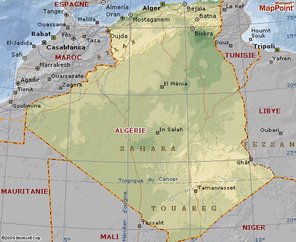 Carte Algerie Aeroports.Carte Algerienne Grande Carte Algerienne