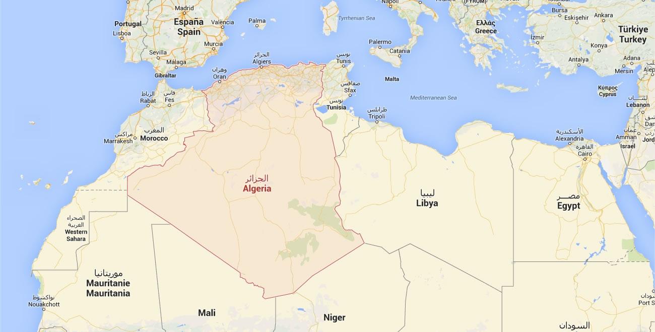 Algerie Carte Du Monde.Carte Pays Algerie Carte Pays Voisins De L Algerie