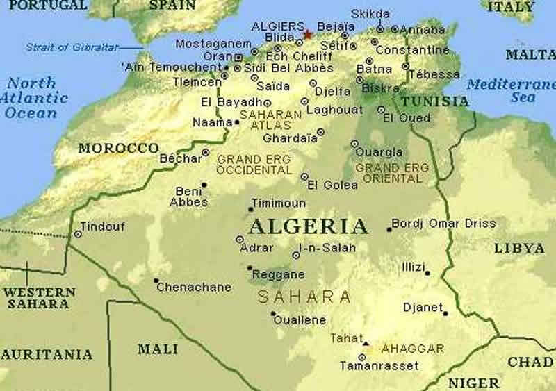 Carte Algerie Niger.Carte Vegetation Algerie Carte Des Vegetations De L Algerie