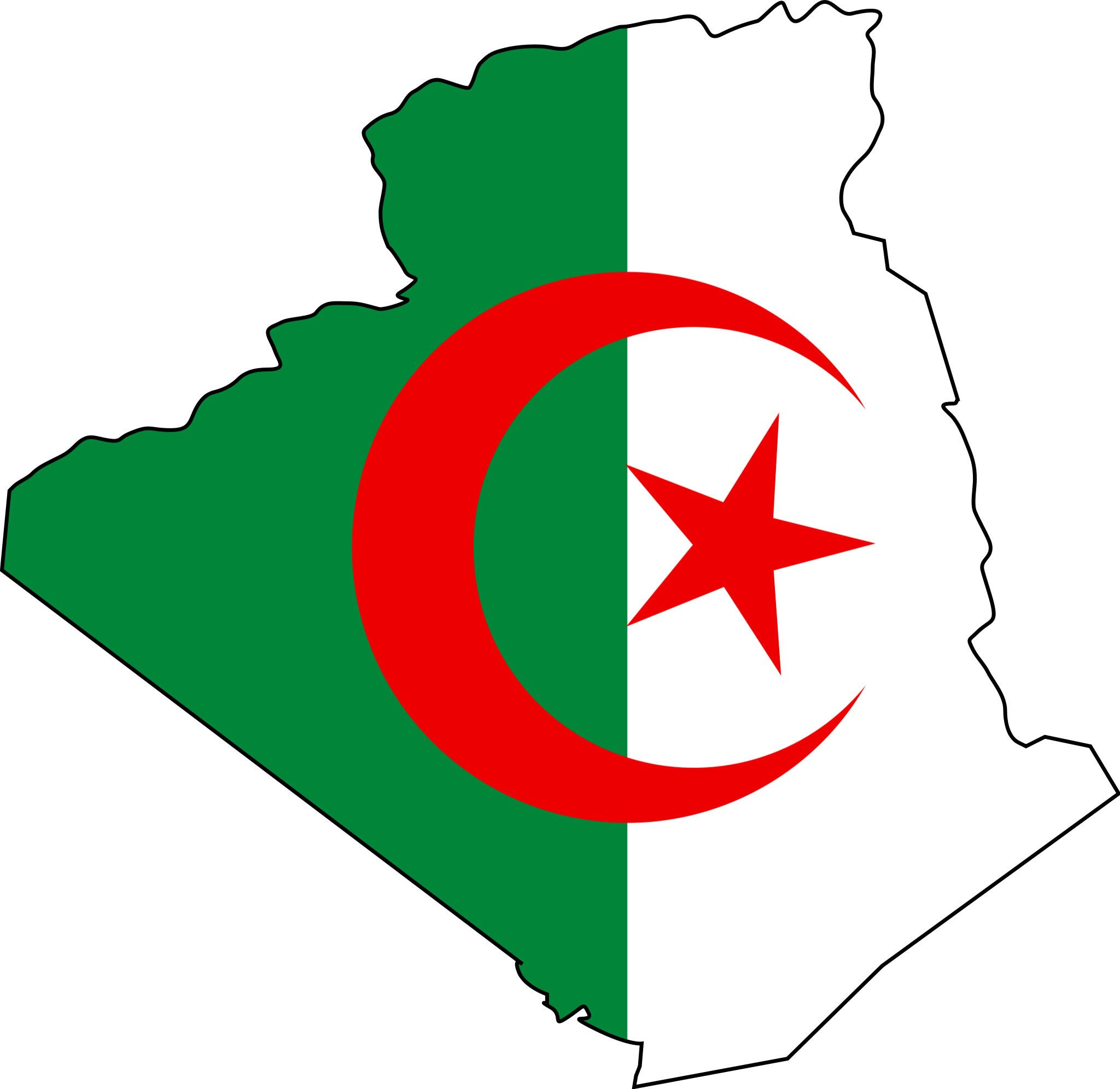 Carte du drapeau Algérien