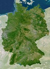 Carte satellite Allemagne