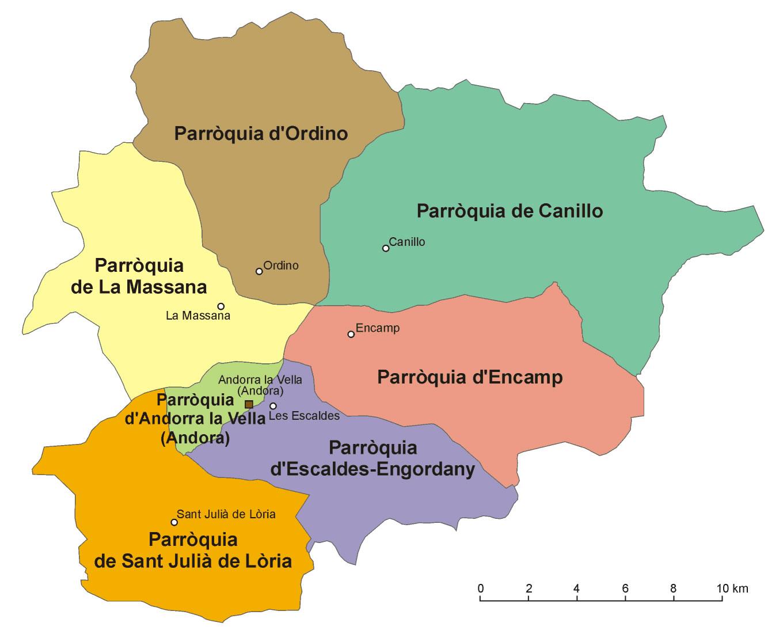 andorre carte du monde • Voyages - Cartes