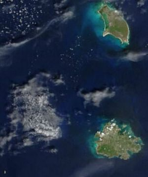 Carte satellite Antigua-et-Barbuda