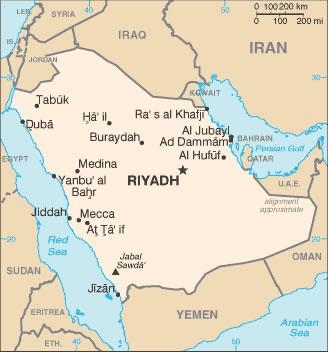 carte de l arabie saoudite Carte des villes Arabie saoudite, Carte des villes de Arabie saoudite