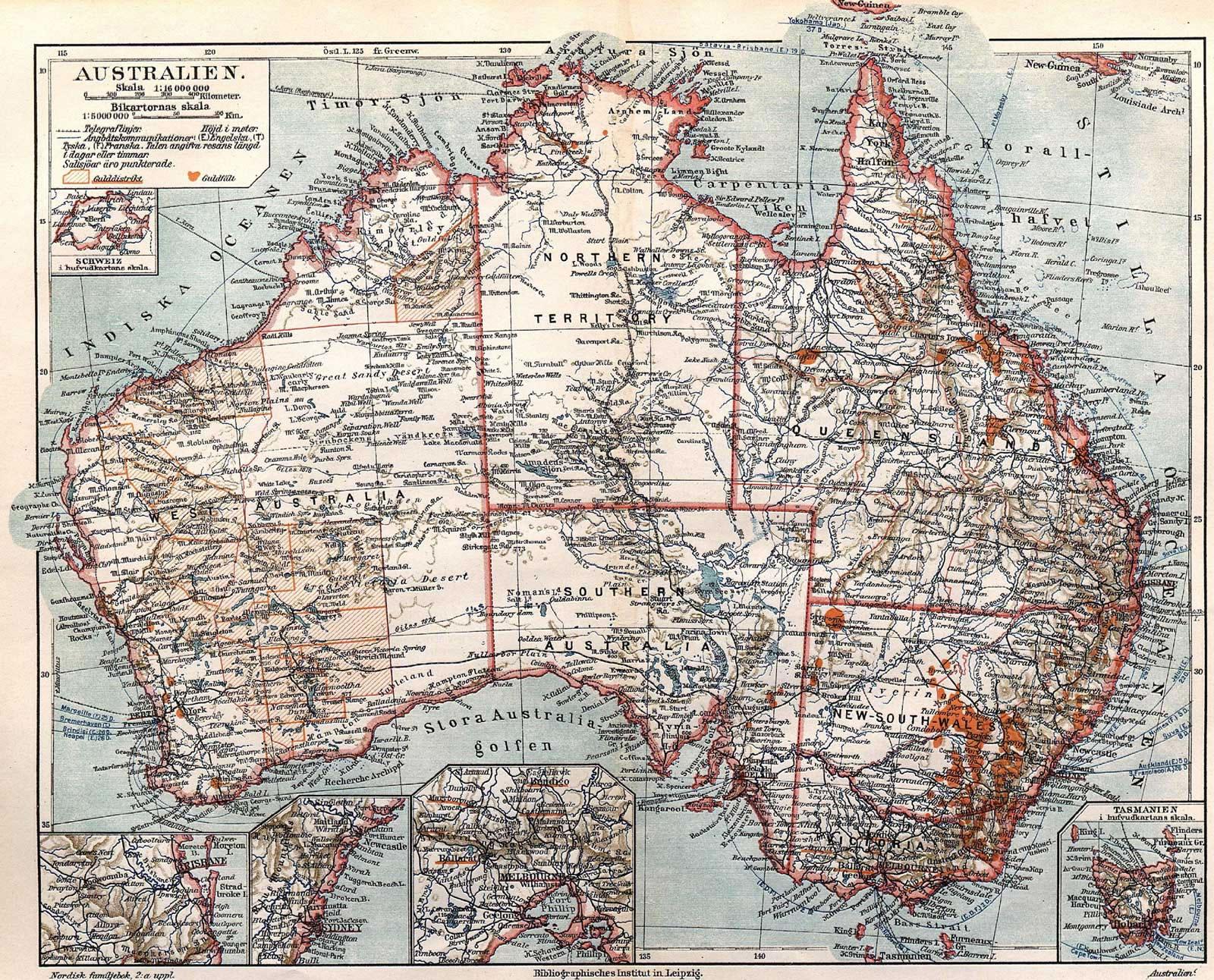 ancienne carte australie ancienne carte de l 39 australie. Black Bedroom Furniture Sets. Home Design Ideas