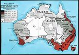 Carte population Australie