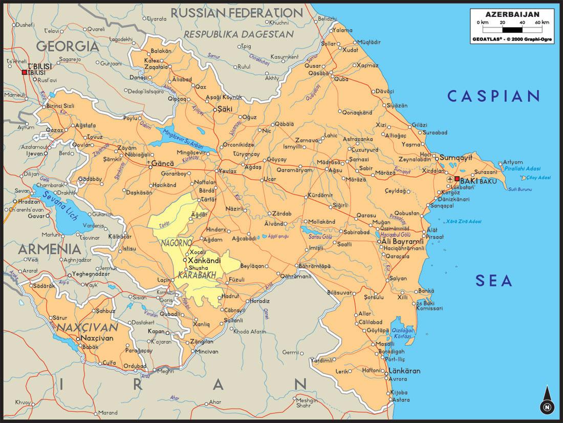 carte de l azerbaidjan