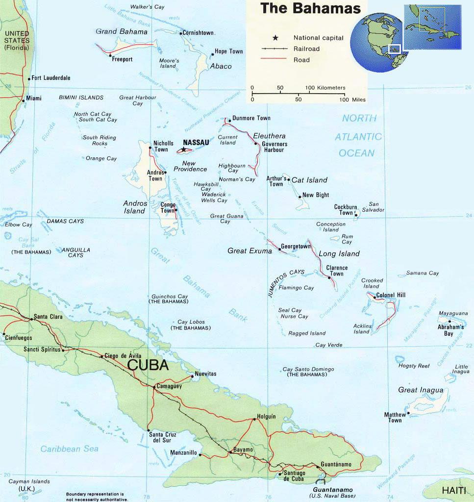 Carte Du Monde Bahamas.Carte Bahamas Carte Du Bahamas