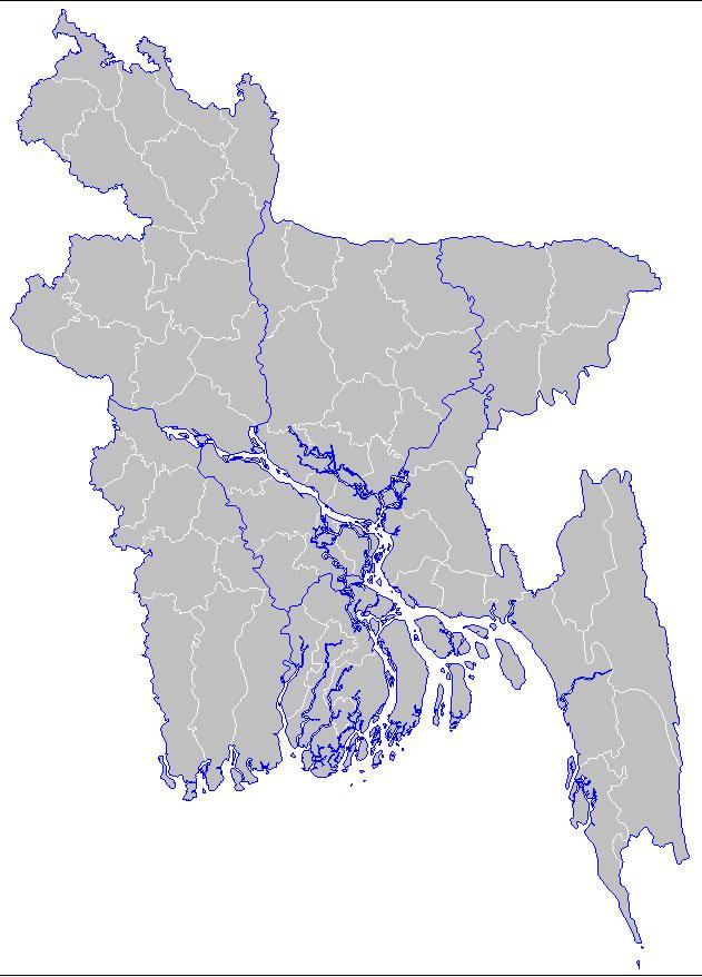 Bangladesh Régions Carte