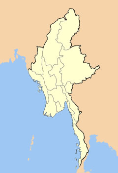 Carte Physique Birmanie.Carte Birmanie Vierge Carte Vierge De Birmanie