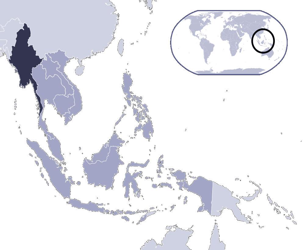 Birmanie Carte Regions.Carte Birmanie Vierge Numeros Regions Carte Vierge Des Numeros