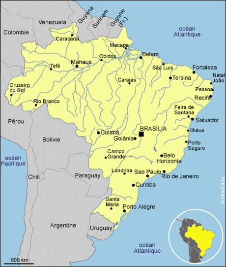 Carte Bresil Villes Et Regions