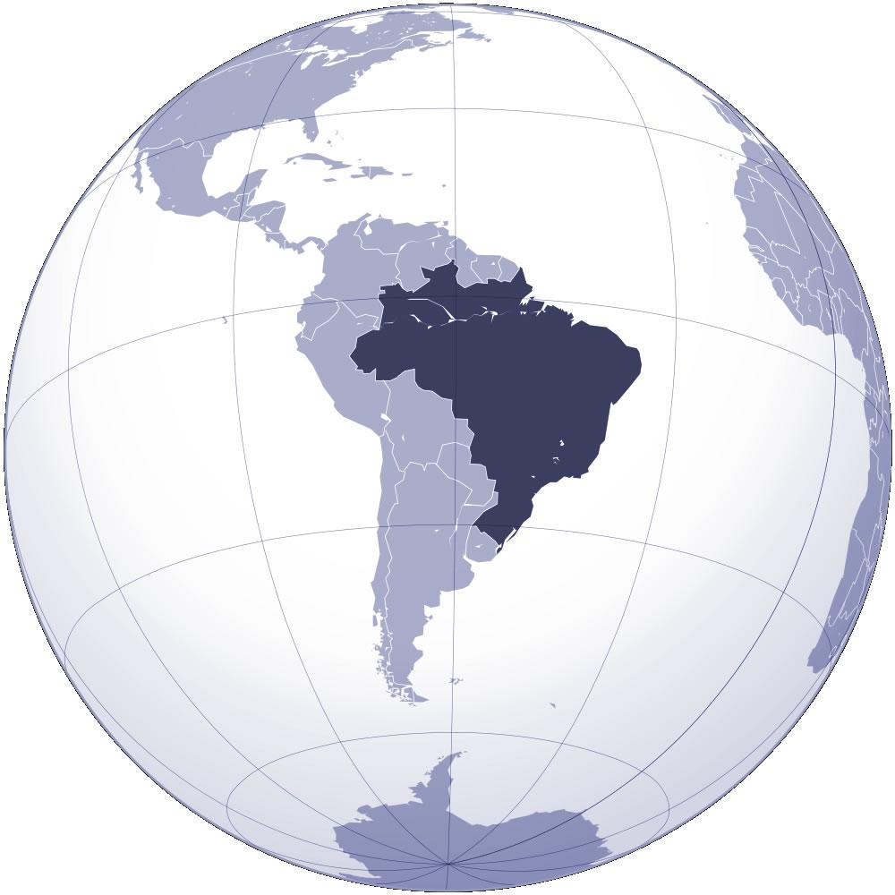 carte du monde bresil