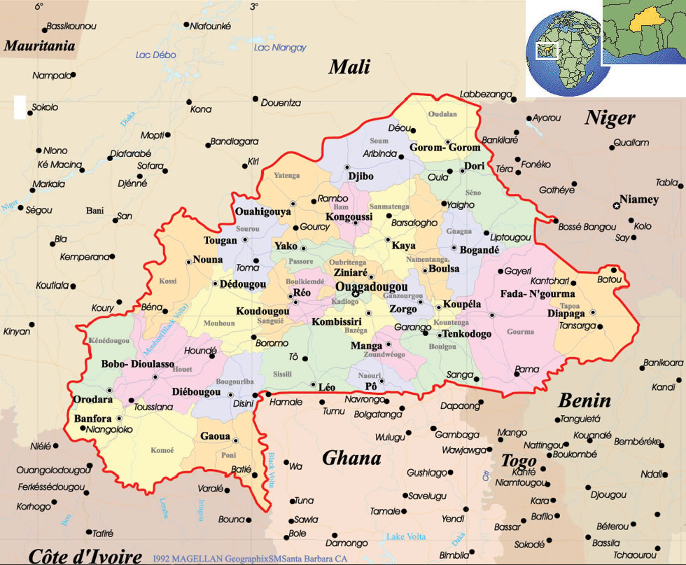 Assez Carte Burkina Faso, Carte de Burkina Faso IH15