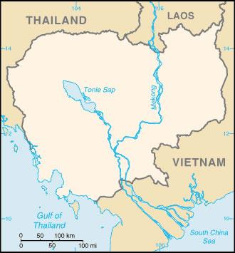 Carte Cambodge Vierge Couleur Carte Vierge De Cambodge En
