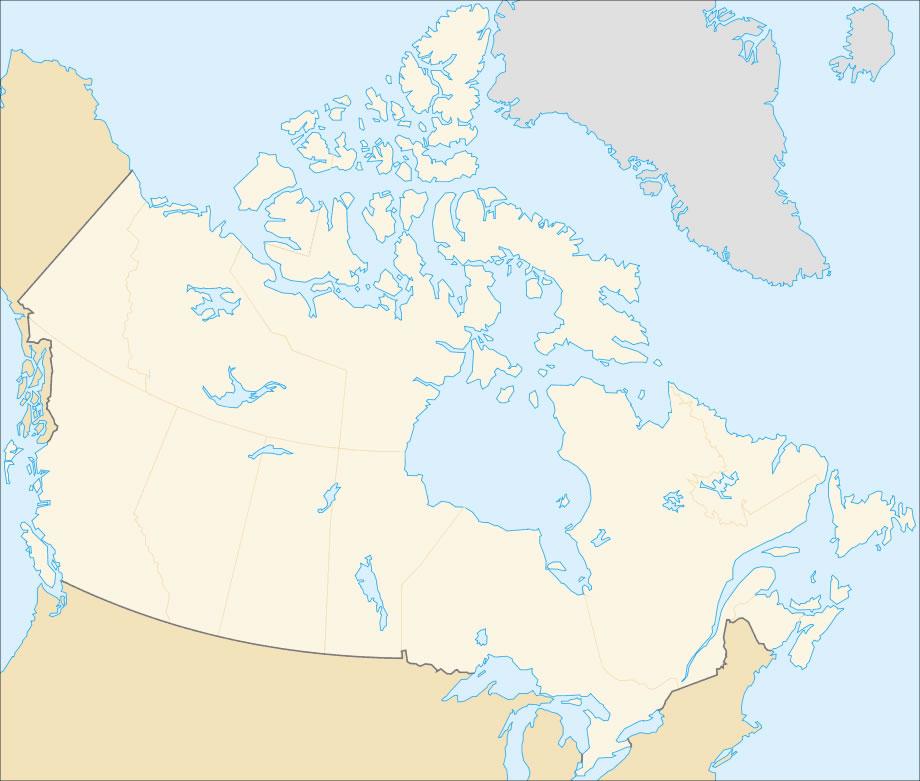 Carte Canada Vierge Imprimer.Carte Canada Vierge Couleur Carte Vierge Du Canada En Couleur