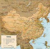 Carte physique Chine