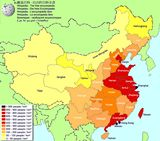 Carte population Chine