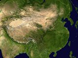 Carte satellite Chine